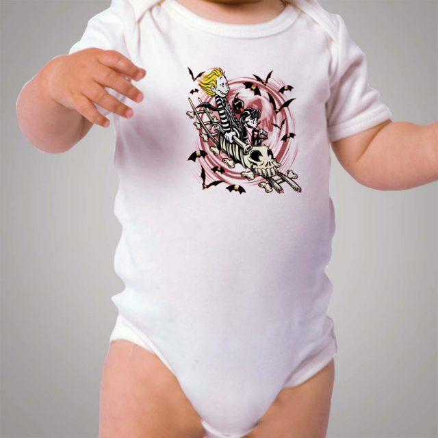 Beetlejuice Calvin Hobbes Baby Onesie