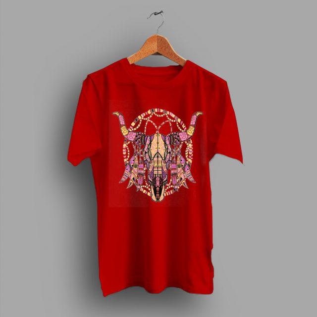 Bull Mosaic Cow Skull T Shirt