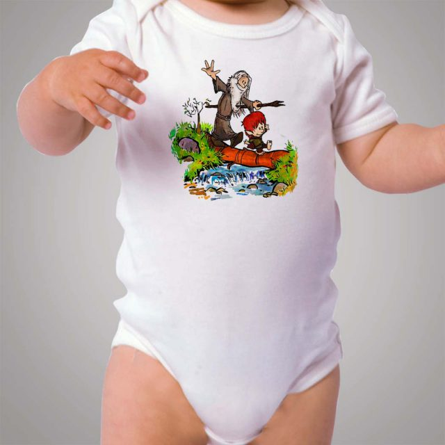 Calvin Hobbes Gandalf and Bilbo Baby Onesie