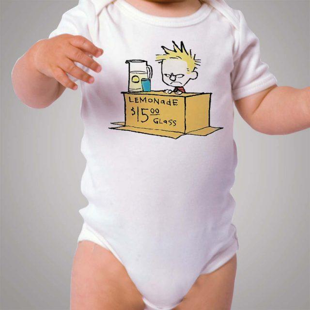 Calvin Hobbes Lemonade Baby Onesie