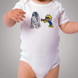 Calvin Hobbes R2D2 Spaceman Baby Onesie