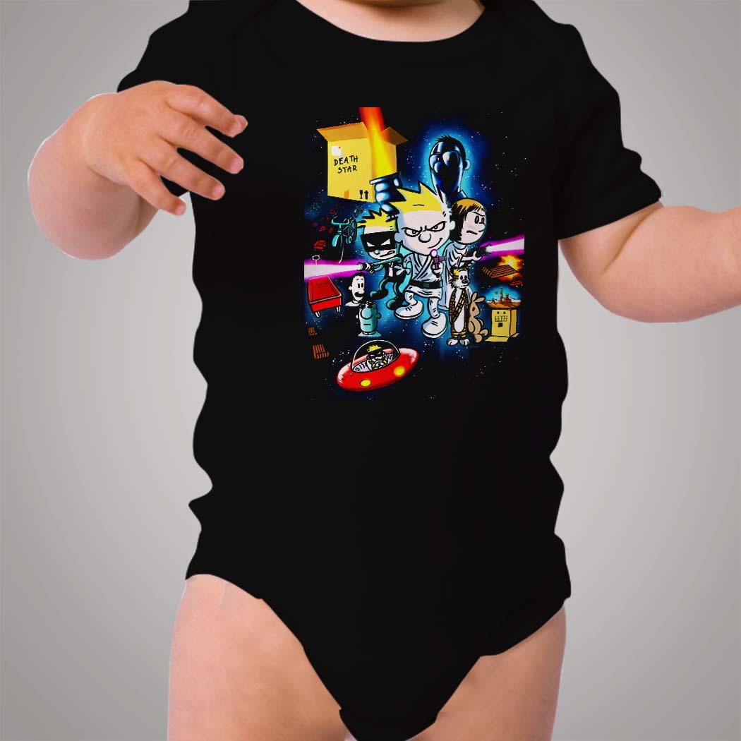 Calvin And Hobbes Death Star Wars Baby Onesie Hotvero