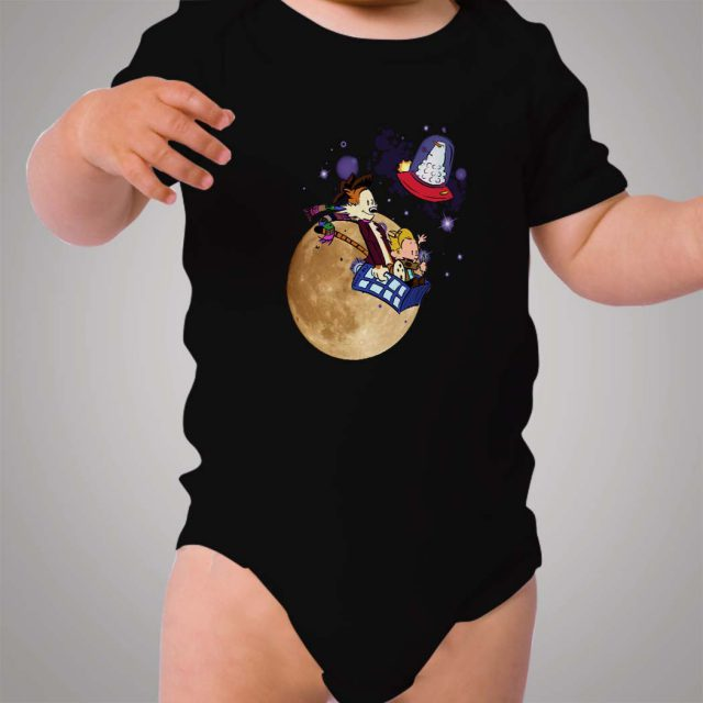 Calvin and Hobbes Doctor Who Baby Onesie
