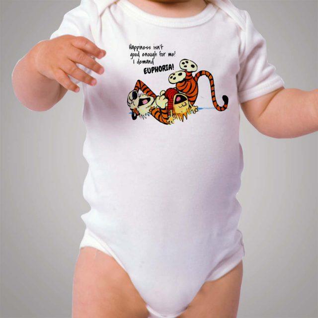 Calvin and Hobbes Euphoria Baby Onesie