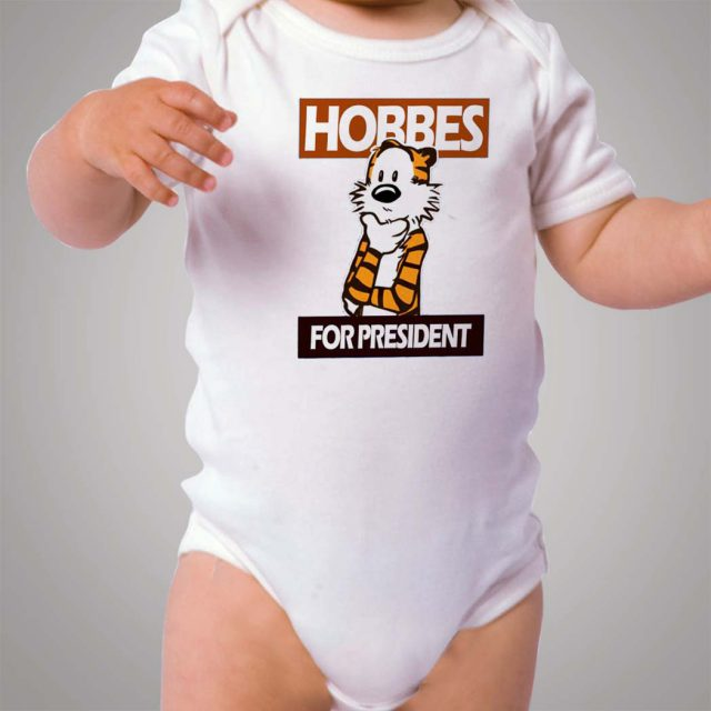 Calvin and Hobbes For President Baby Onesie