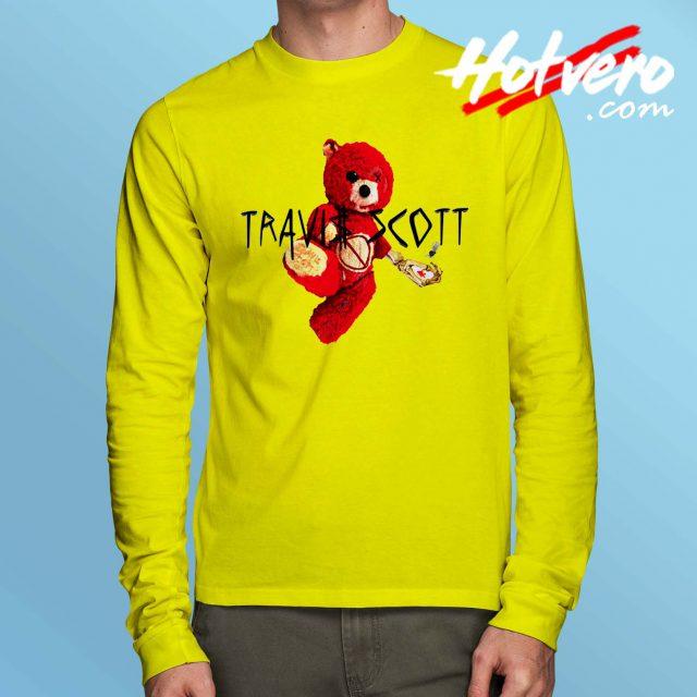 Cheap Travis Scott Bear Long Sleeve T Shirt