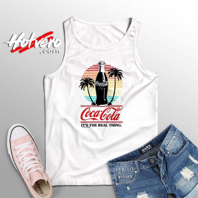 Coca Cola Spring Beach Its Real Things Summer Tank Top