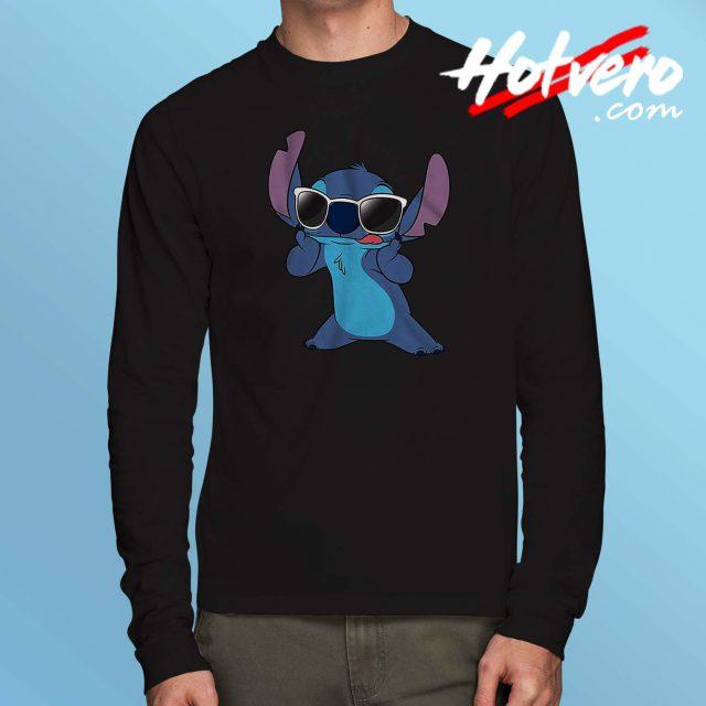 Cute Disney Lilo Stitch Sunglasses Long Sleeve T Shirt