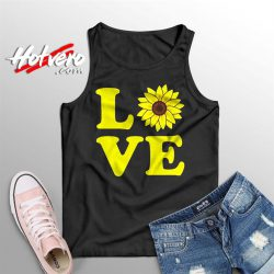 Cute Love Sunflower Summer Tank Top
