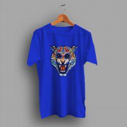 Day Fullcollors Of Dead Tiger Skull T Shirt
