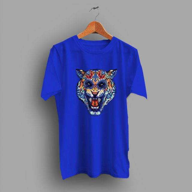 Day Fullcollors Of Dead Tiger Skull T Shirt