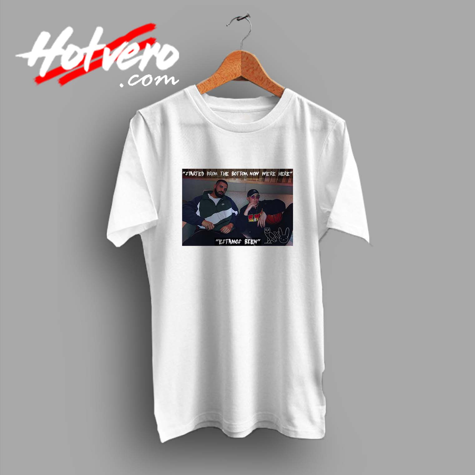 398c24d85b Drake X Bad Bunny Hip Hop Collabs Custom T Shirt - Hotvero
