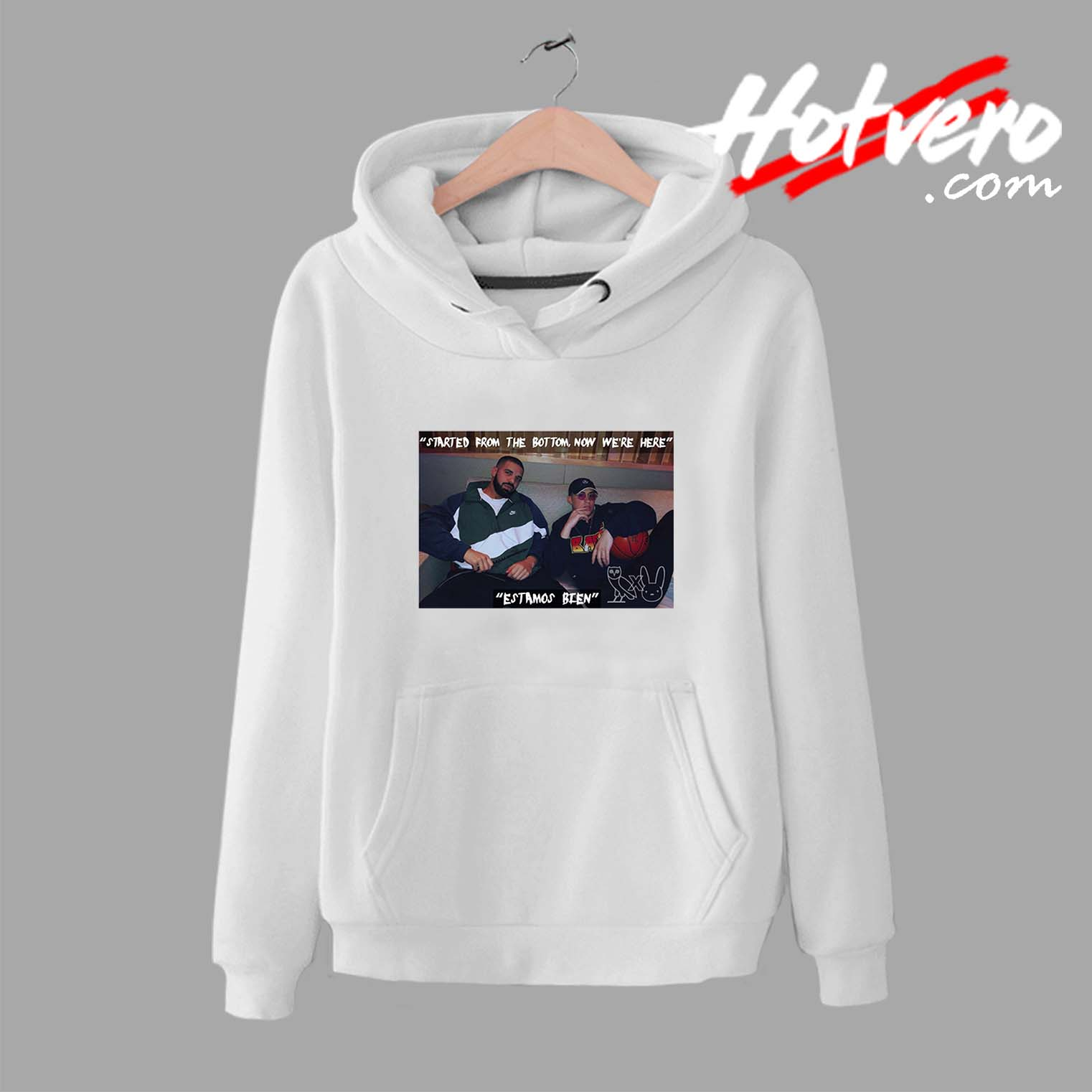 e99ba158fd Drake X Bad Bunny Hip Hop Collabs Unisex Hoodie - Streetwear by Hotvero