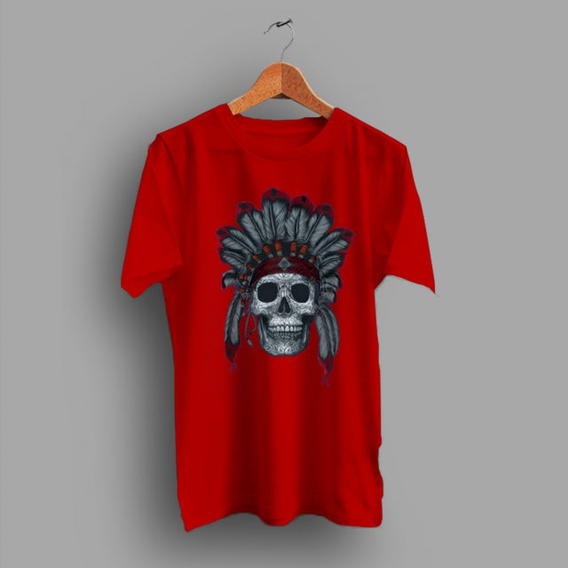 Feathers Day With Indian Headdress Sugar Skull T Shirt