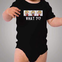Funny Calvin Hobbes Weird Face Baby Onesie