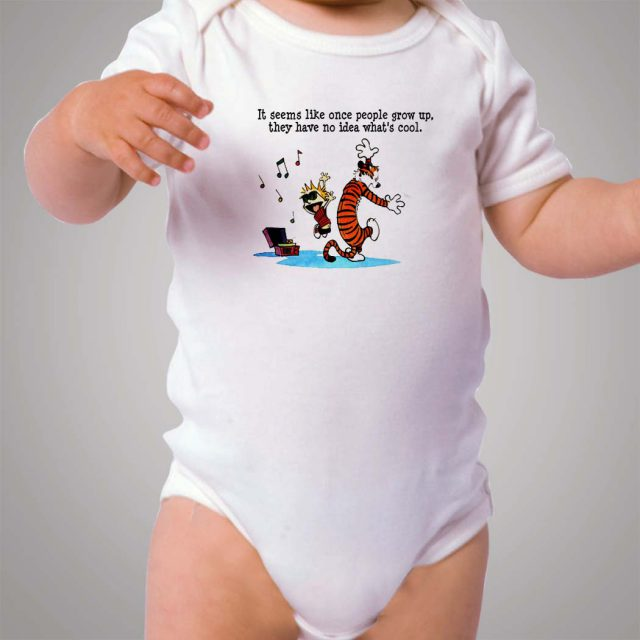 Funny Calvin and Hobbes Quote Baby Onesie