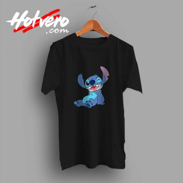 Funny Disney Lilo Stitch Winky Wink Custom T Shirt
