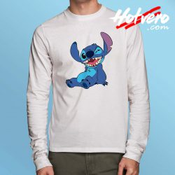 Funny Disney Lilo Stitch Winky Wink Long Sleeve T Shirt