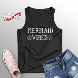 Funny Disney Little Mermaid Vibes Summer Tank Top