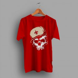 Heavy Classic Look And Feel New Orleans Saint Skull T Shirt