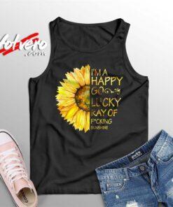 Im A Happy Go Lucky Sunflower Summer Tank Top