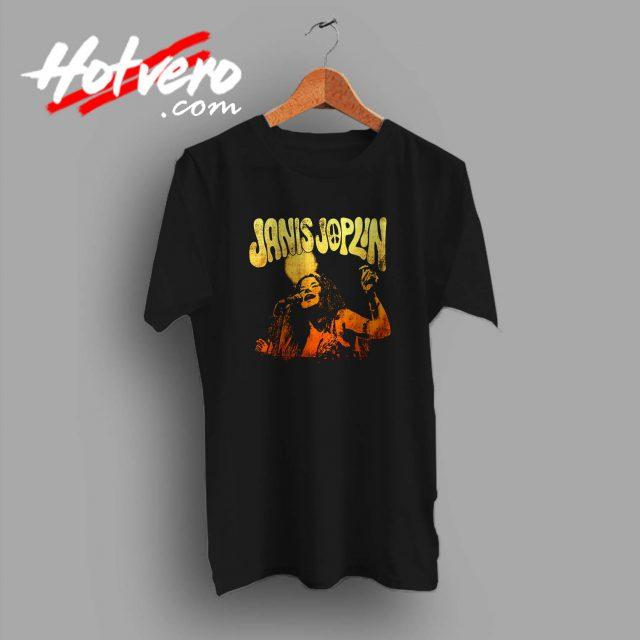 Janis Joplin Live Custom T Shirt
