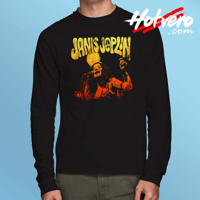 Janis Joplin Live Long Sleeve T Shirt