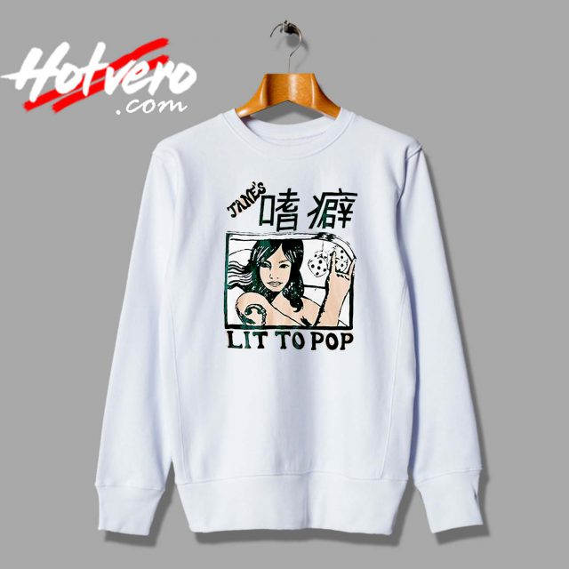 Kanye West Outfit Lit To Pop Custom Sweatshirt