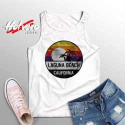Laguna Beach Retro Sunset Summer Tank Top