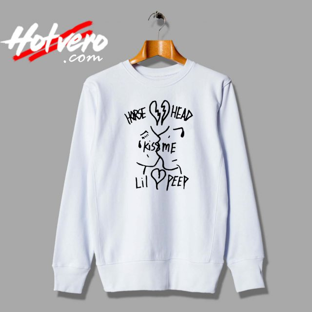 Lil Peep Hellboy Kiss Me Custom Sweatshirt