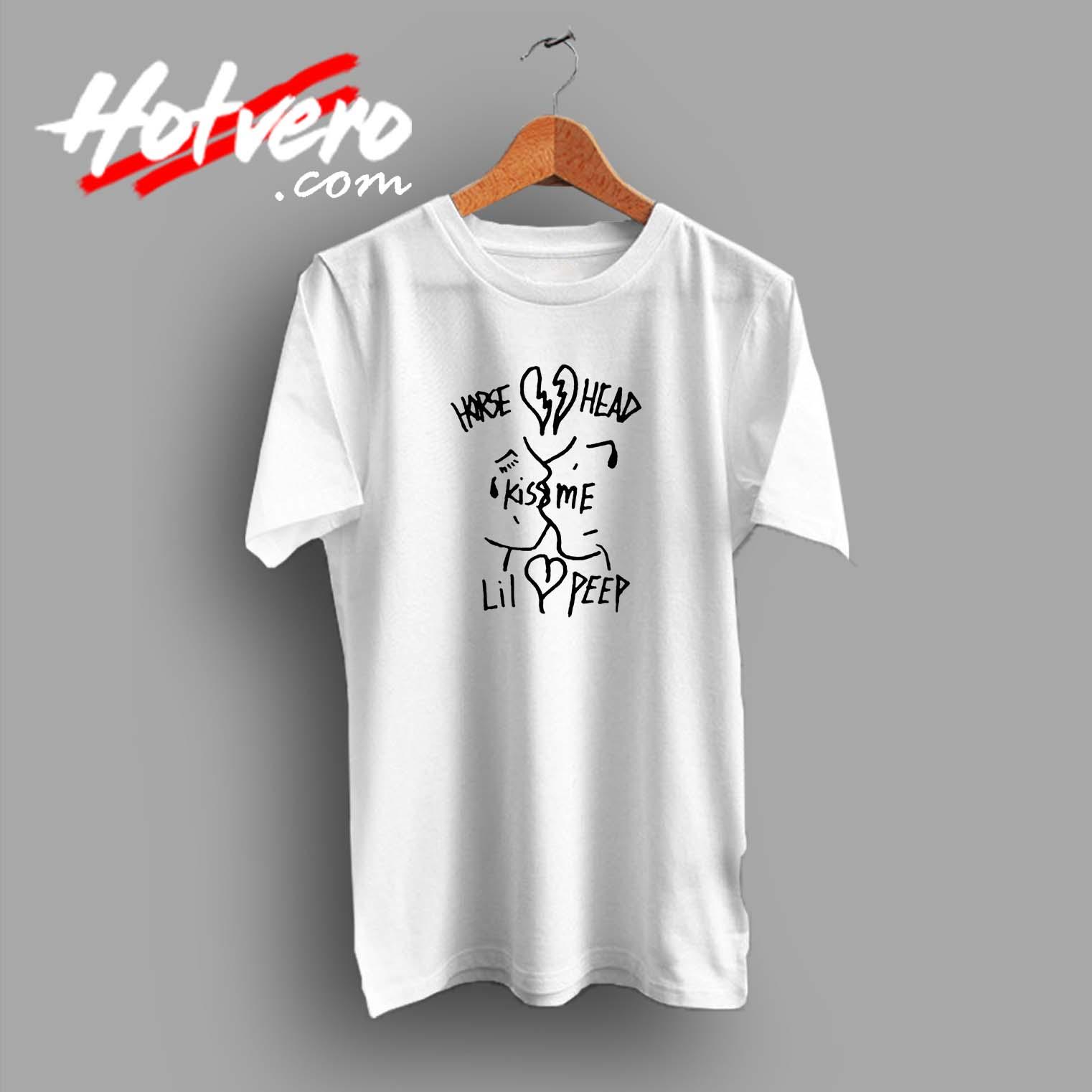 bc0df473 Lil Peep Hellboy Kiss Me Custom T Shirt - Hotvero