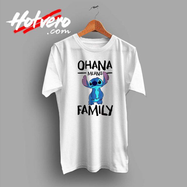 Lillo Stitch Ohana Means Family Custom T Shirt