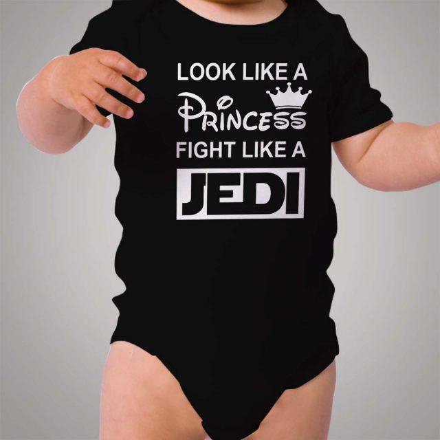Look Like Princess Fight Like Jedi Star Wars Baby Onesie