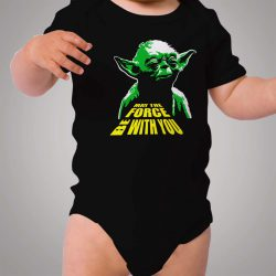 May The Force Be With You Yoda Star Wars Baby Onesie