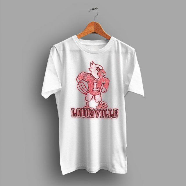 Ncaa College 80s Vintage Louisville Cardinals University T Shirt