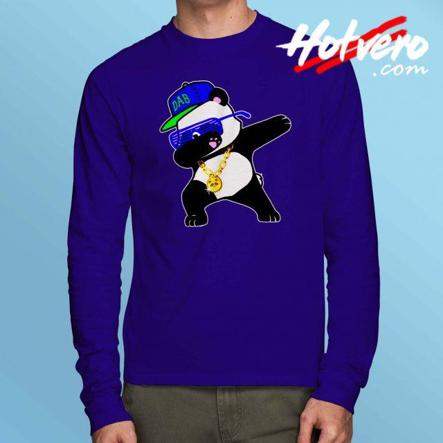 Panda Dabbing Swag Style Long Sleeve T Shirt