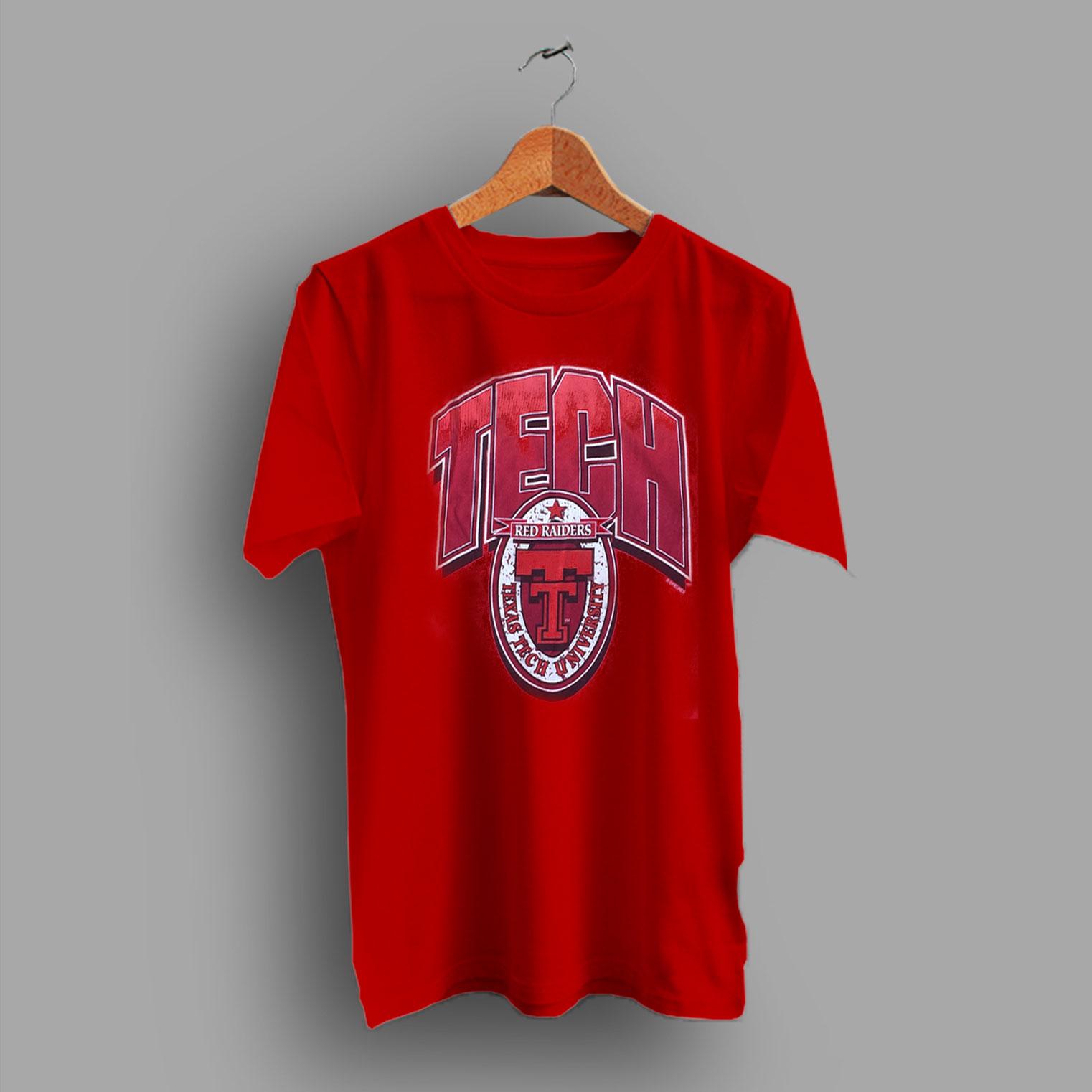Red Raiders Football Vintage Texas Tech Lubbock College T