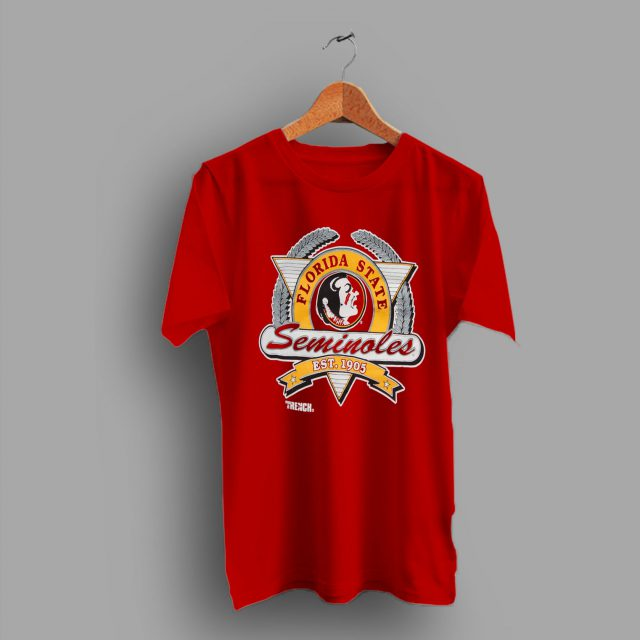 Retro Logo Florida State University Seminoles College T Shirt