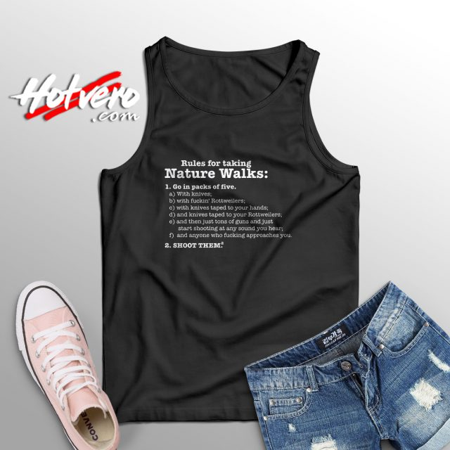 Rules For Taking Nature Walks Cute Tank Top