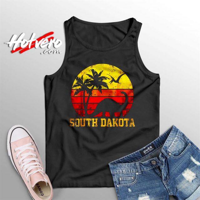 South Dakota Dinosaur Beach Summer Tank Top