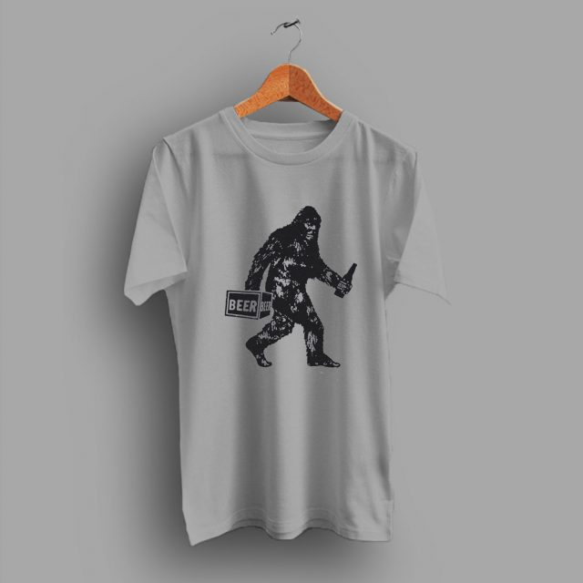 The Boars Nest Cryptid Cryptozoology Bigfoot Drinking Beer T Shirt