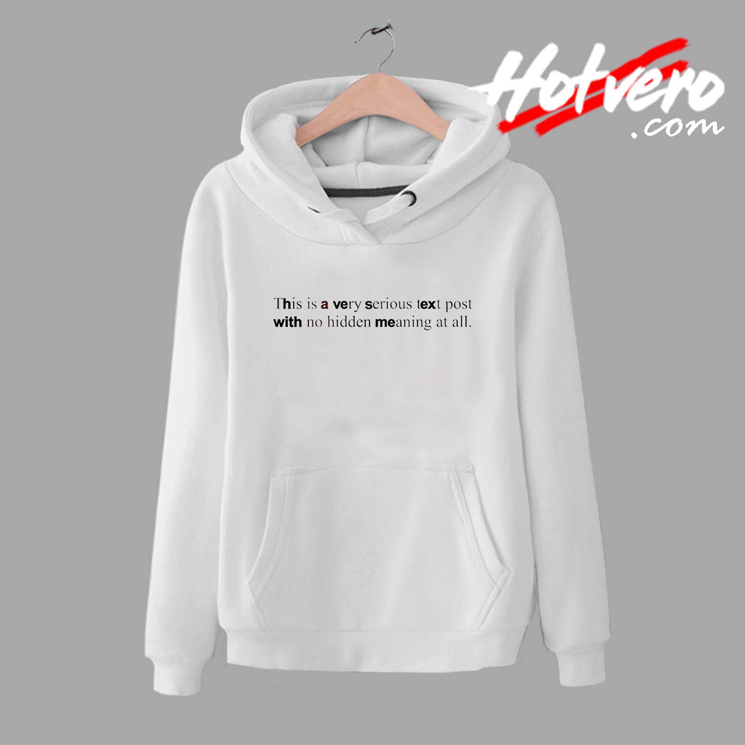eaa901607 This is a Very Serious Text Post Quote Unisex Hoodie - Streetwear by ...