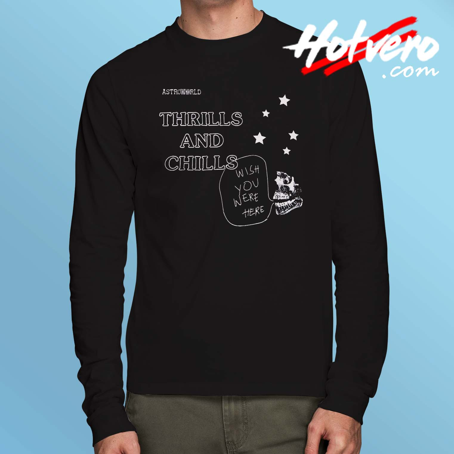 3208ac586a92 Travis Scott Astroworld Thrills Chills Long Sleeve T Shirt - Hotvero.com