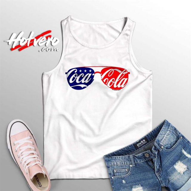 Vintage Coca Cola Sunglasses Summer Tank Top