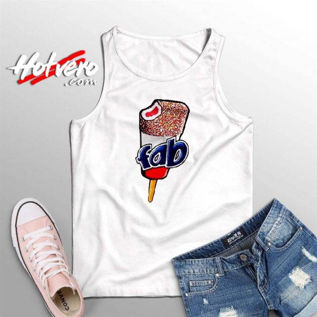 Vintage Fab Ice Cream Lolly Summer Tank Top