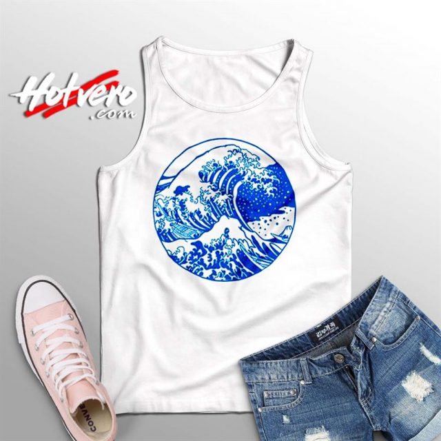 Vintage Great Wave Off Kanagawa Summer Tank Top