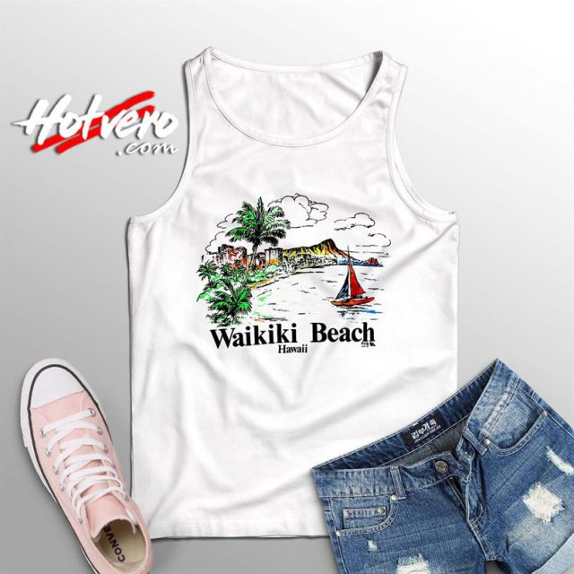 Vintage Hawaiian Wakiki Beach Summer Tank Top