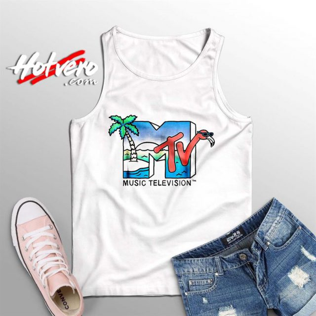 Vintage MTV Beach Island Flamingo Summer Tank Top