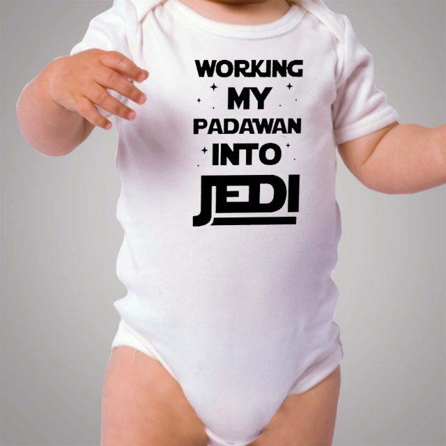 Working My Padawan Into Jedi Baby Onesie