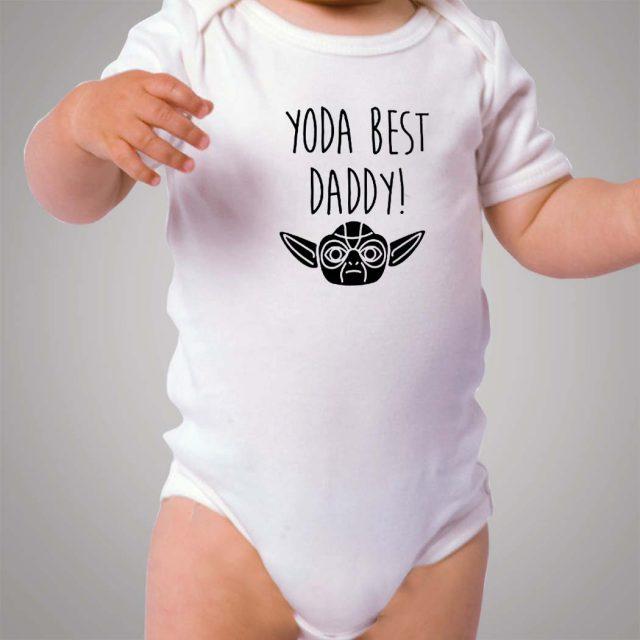 Yoda Star Wars Best Daddy Baby Onesie
